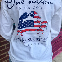 One Nation Simply Southern Long Sleeve- White