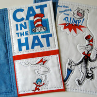 Quilted Mug Rugs  The Cat in the Hat  Dr Seuss Set of 2 Snack Mats
