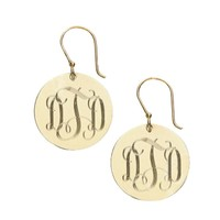 Round French Wire Earrings - Gold
