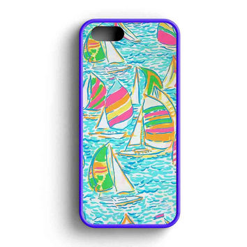 Lilly Pulitzer Sailboat  iPhone 5 Case iPhone 5s Case iPhone 5c Case