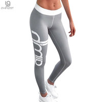 2017 Plus Size Push Up Sporting Leggings Women Gothic Print High Waist Elastic Pants Workout Fitness Leggings Women Pants Trouse