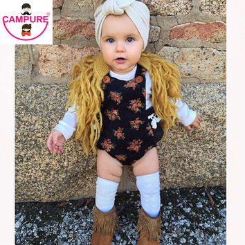 Handmade Crochet Babies Kids Tassels Cardigans Knitting Vests Candy Color Casual Sweaters Boys & Girls Stylish Jackets Outwears
