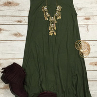 Taking Sides Tunic: Olive