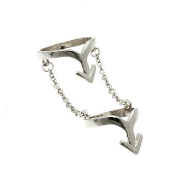 What Goes Up Knuckle Ring (Silver)