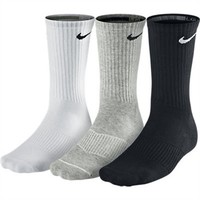 Nike Cotton Cushion Crew Socks with Moisture Management - 3 Pack