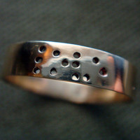 LOVE in Braille Brass Ring by Anilani (3mm Band)