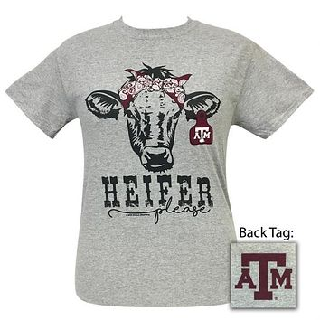 Texas A&M Aggies Preppy Heifer Please Cow T-Shirt