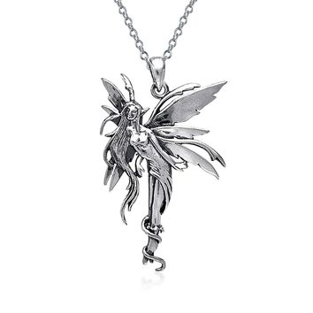 Firefly Fairies Pixie Fairy Angel Necklace Pendant s Sterling Silver