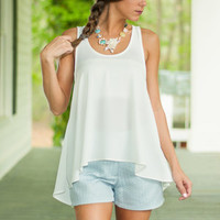 Flare It All Tank, Ivory