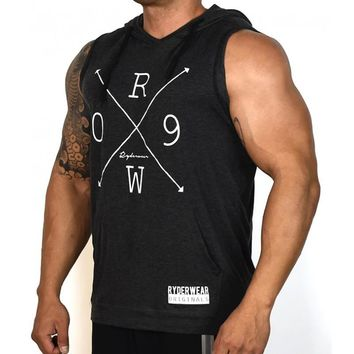 Mens Fashion Short Sleeve Hoodies Leisure fitness Sweatshirt gyms Crossfit Sportswear male pullover tops clothes clothing