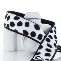 Dalmatian Camera Strap, dSLR, SLR, Faux Fur, Mirrorless, Canon Strap, Nikon Strap, Replacement camera strap, Camera Neck Strap, 242