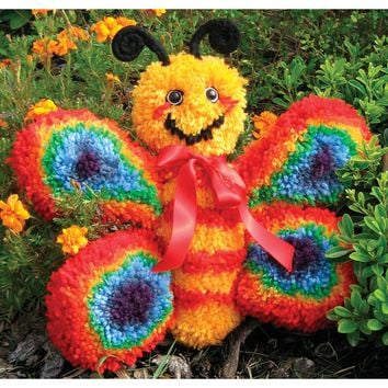 Butterfly Huggables Stuffed Toy Latch Hook Kit 16""