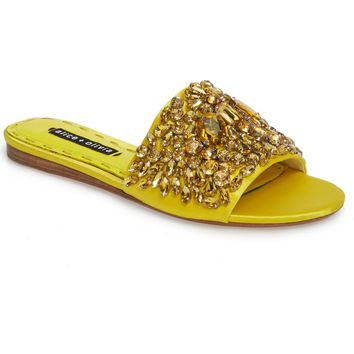 Alice + Olivia Abbey Crystal Embellished Slide Sandal (Women) | Nordstrom