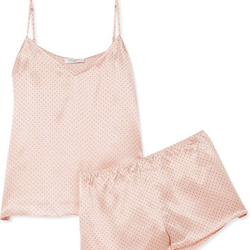Equipment - Alexy polka-dot silk-satin pajama set