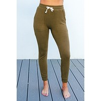 Night In Joggers: Olive