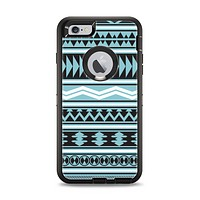The Vector Blue & Black Aztec Pattern V2 Apple iPhone 6 Plus Otterbox Defender Case Skin Set