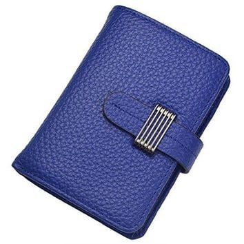 Womens RFID Blocking Security Leather Small Compact Billfold Ladies Wallet