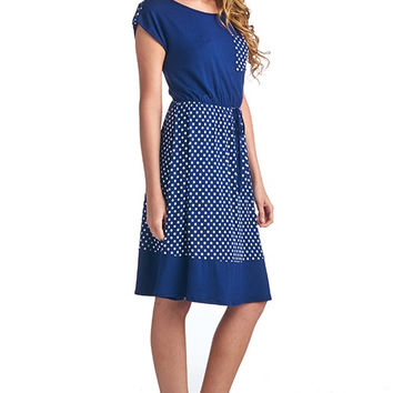 Polka Short-sleeved Dress