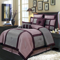 Morgan Purple Luxury 8-Piece Comforter Set