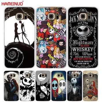 HAMEINUO Jack&Sally Nightmare Before Christmas cell phone case cover for Samsung Galaxy S7 edge PLUS S8 S6 S5 S4 S3 MINI