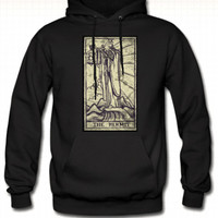 The Hermit Tarot Pull Over Hoodie