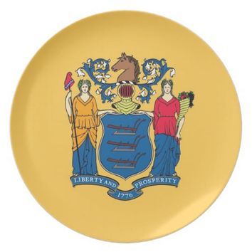 New Jersey State Flag Plate