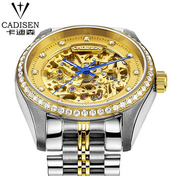 cadisen Swiss Brand Men's Sport Wrist Watches Water Resistant Watches 2016 Male Automatic machinery Watch relogio masculino