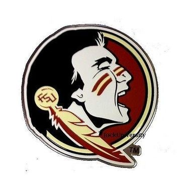 Florida State Seminoles Die-Cut Metal Color Auto Emblem - Decal , Sticker