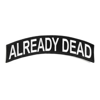 Already Dead Large Back Patch - Black/White
