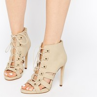 ASOS EQUAL DISTANCE Lace Up Shoe Boots