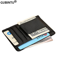 Men's Genuine Leather Money Clip Famous Brand Money Clip Wallet for Cash Fashion Designer Wallet for Cards and Money ZC6014