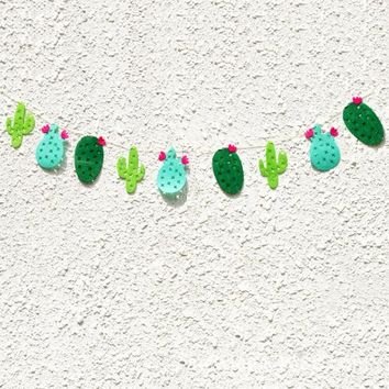 Non-woven Fabric Cactus Party Banner Garland Banner for Tropical Party Birthday Party Festival Decoration - Walmart.com