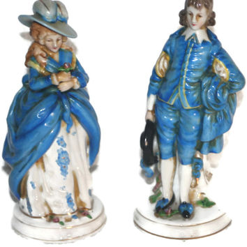 Vintage Victorian Couple Figurines,Home decor