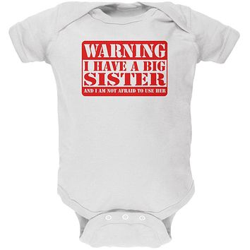 Warning Big Sister Soft Baby One Piece