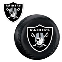 Oakland Raiders NFL Spare Tire Cover and Grille Logo Set (Large)