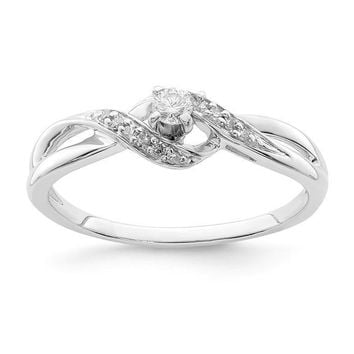 Sterling Silver Diamond Infinity Twist Promise Ring
