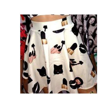 Cute emoji ladies mini skater skirt emoji shirt ladies crop top emoji skirt girls fashion skater skirt emoji outfit
