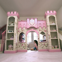 Princess Castle Playhouse Loft Bed : Luxury Playhouses at PoshTots