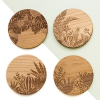 Botanical Wood Coasters