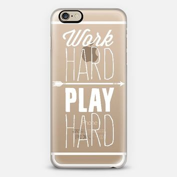 Work Hard Play Hard iPhone 6 case by I Love Printable | Casetify