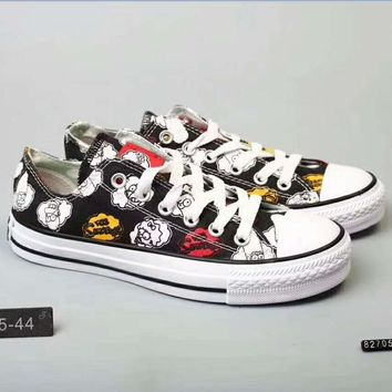 Converse All Star cartoon Canvas shoes H-PSXY