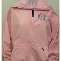 Monogram Pullover Lightweight Rain/Wind Jacket with Hood-CHARLES RIVER APPAREL