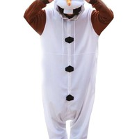 Frozen Olaf Adult Unisex Animal Kigurumi Cosplay Costume Pajamas Onesuits