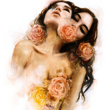 Rose Art Print by Charmaine Olivia