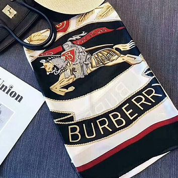 BURBERRY Newest Popular Women Smooth Silk Cape Scarf Scarves Shawl Accessories
