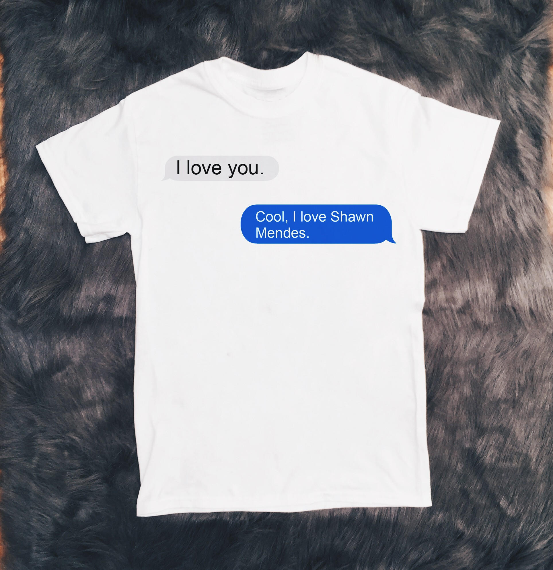 61f35b23 I Love Shawn Mendes iMessage T-Shirt from Infinity Owl