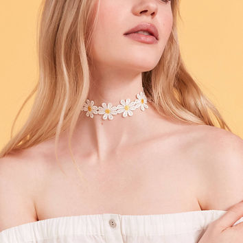 Flower Choker Necklace | Urban Outfitters