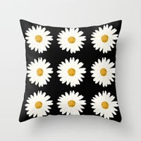 Daisy Throw Pillow by Nessieness