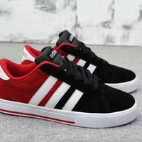 """Adidas Neo"" Unisex Sport Casual Couple Fashion Multicolor Stripe Anti-fur Plate Shoes Sneakers"