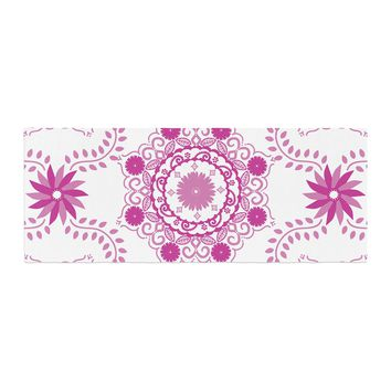 "Anneline Sophia ""Let's Dance Fuschia"" Pink Floral Bed Runner - Outlet Item"